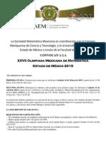 Convocatoria Olimpiada Mexicana de Matematicas Estado de Mexico (1)