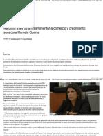 04-03-15 Reforma a la ley de armas fomentaría comercio y crecimiento. Senadora Marcela Guerra.pdf
