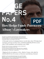 Hedge Clippers White Paper No.4: How Hedge Funds Purchased Albany's Lawmakers