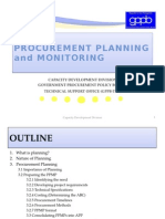 Procurement Planning and Monitoring
