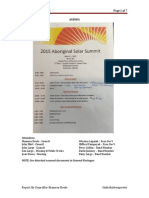 Aboriginal Solar Summit 2015 Report