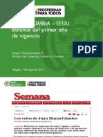 Foro Semana Ministro - Primer Año Tlc Col-eeuu