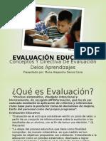 Diapositivas de Evaluación Educativa
