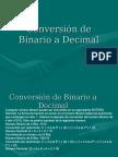 Conversion de Binario