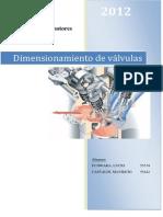 Dimensionamiento de Valvulas