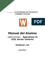 Aplicativos III SQL Server Usuario