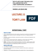 Lecture 13 - Tort Law