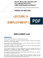Lecture 14 - Employment Law