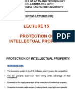 Lecture 15 - Protection of Intellectual Property