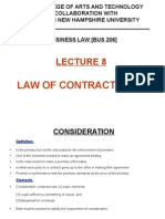 Lecture 8 - Law of Contracts [2A]