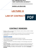 Lecture 12 - Law of Contracts [4A]