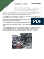 Desbordamiento de Arroyo Afecta a Poblaciones
