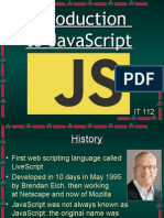 Introduction to Javasript