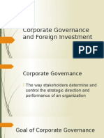 7.1 Corporate Governance and Foreign Investment