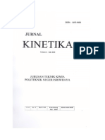 Jurnal Teknik Kimia Dari Dosen Teknik Kimia
