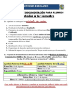 Requisitos Primer Semestre 2012
