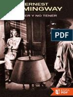 Tener y No Tener - Ernest Hemingway