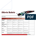 Les iMovie Rubric