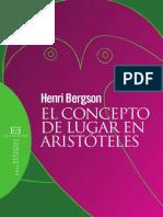 El Concepto de Lugar en Aristóteles - Bergson, Henri