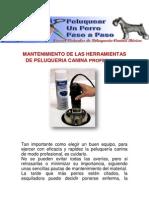 Mantenimiento de Las Herramientas de Peluqueria Canina Profesional