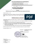Pengumuman Dan Tata Tertib UTS 2013-2014