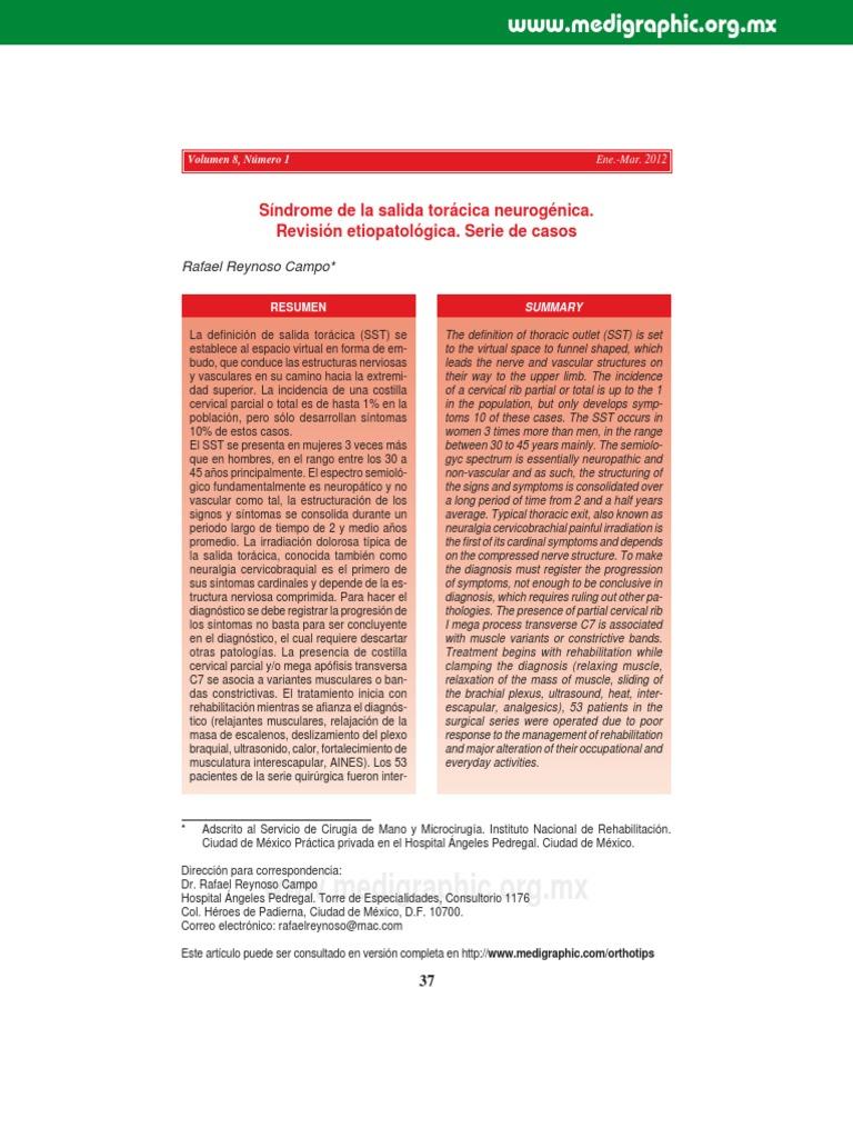 Articulo Sindrome de La Salida Toracia 2