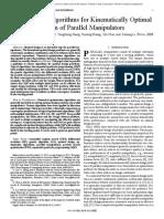 Optimisation of Parallel Manipulators
