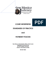 Practice and Payment Policies 2012