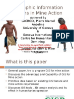 Geographic information system for mine detection