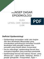 Konsep Dasar Epidemiologi