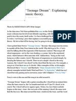 "Katy Perry's ""Teenage Dream"" Explaining the Hit Using Music Theory"