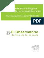 Sugerencias sobre ecología para el programa electoral de Podemos