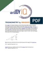 Triginometry by Abhishek Jain for SSC exams