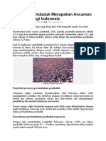 Ledakan Penduduk Merupakan Ancaman Terbesar Bagi Indonesia