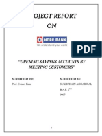 Opening Saving Account in HDFC Bank