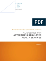 AHPRA Guidelines for Advertising Regulated Health Services