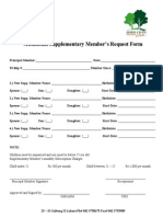 Additional Supplementary Member Form