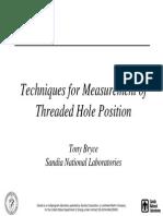 Thread Hole Location Study