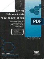 [Wilmerding, 2001] Term Sheets & Valuations