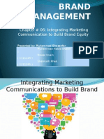 Iintegrating marketing communications to build brand equity
