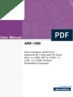 ARK-1380 User Manual