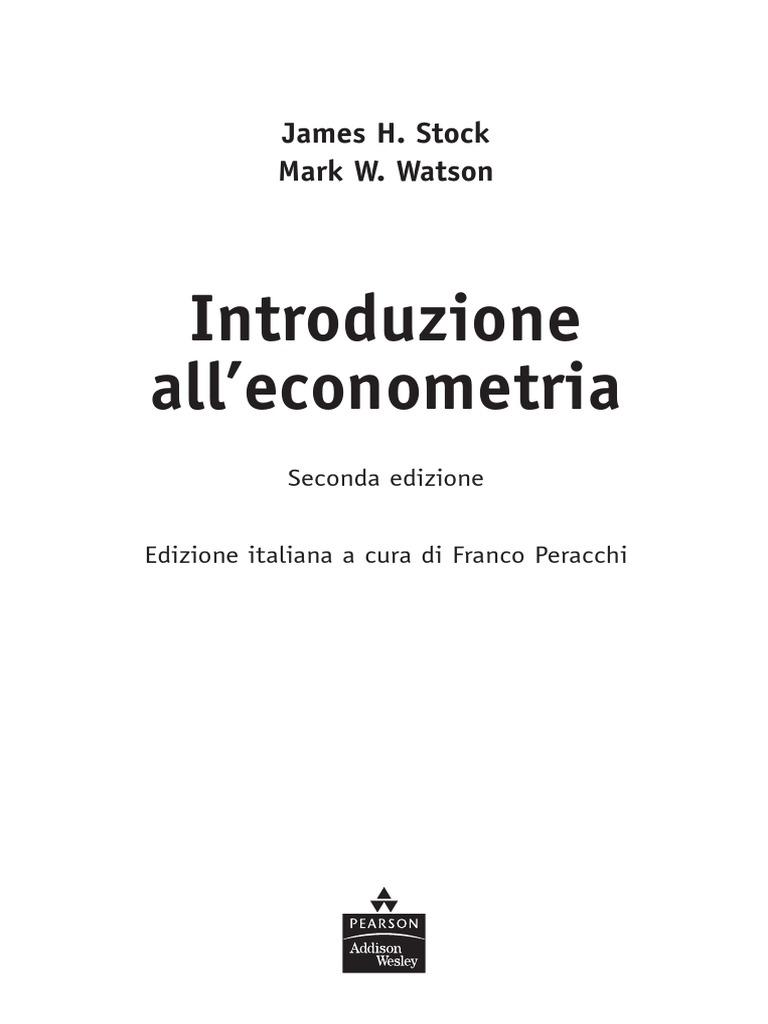 Indice introduzione alleconometria stock watson fandeluxe Images