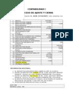 Ejercicios de Ajuste y Cierre Contable---2013