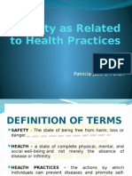 Safety as Related to Health Practices PPT