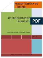 OS PROPÓSITOS DO SHABBATH