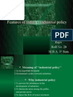 Features of Indian Industrial Policy