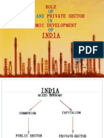 Role of Public and Private Sector in Economic Development of India