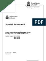 Spanish Advanced 6 Module Guide