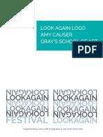 look again logo and visual identity