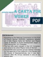 Magna Carta for Women Ppt - Copy - Copy